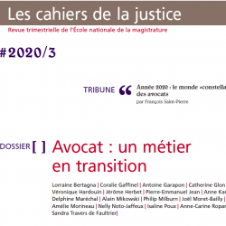 Magistrats-Avocats, des relations sans règles du jeu. Antoine Garapon dans les Cahiers de la Justice