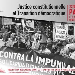Justice constitutionnelle et transition démocratique 22 janvier 2016