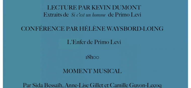 Conférence Jacqueline Lévi-Valensi