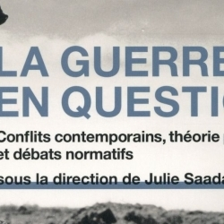 Publication : la guerre en question par Julie Saada