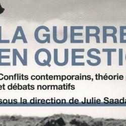 Publication : la guerre en question par Julie Saada